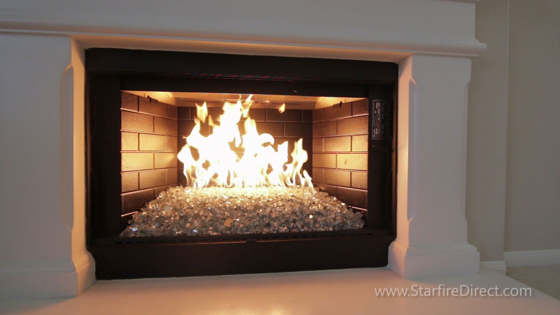 Looking For A Great Way To Spruce Up Your Gas Burning Fireplace A H Burner And Fire Glass Purchased From Ww Glass Fireplace Fire Glass Fireplace Gas Fireplace