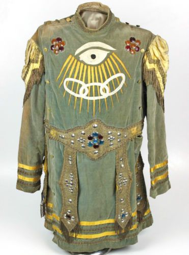 Antique Odd Fellows Ceremonial Jonathan Uniform Coat mid to
