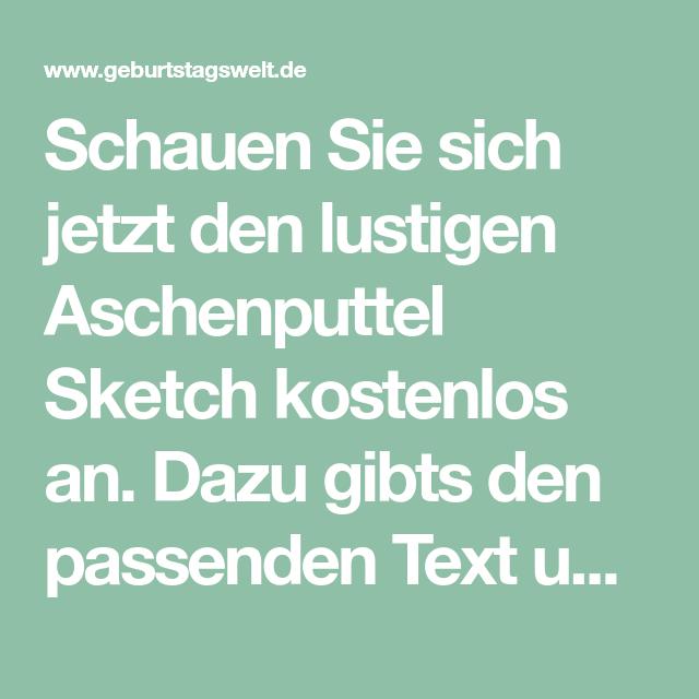 Aschenputtel Sketch Mit Text Geburtstagswelt Aschenputtel Lustig Aschenbrodel