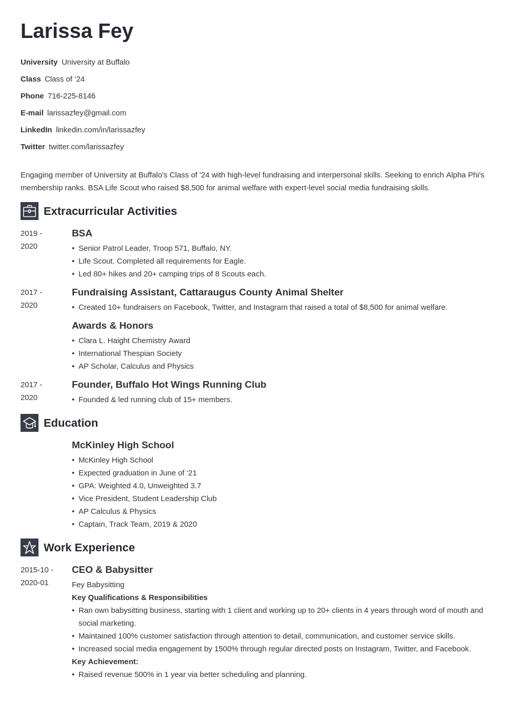 Sorority Resume Example Template Newcast Sorority Resume Job Resume Examples Resume Examples