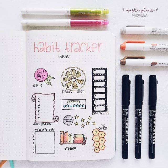 155+ Bullet Journal Habit Tracker Ideas