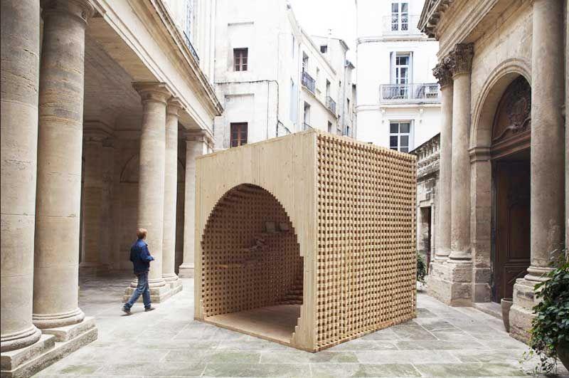 Pavillon holz flachdach f r architektur gedr ngten for Frankreich dekoration
