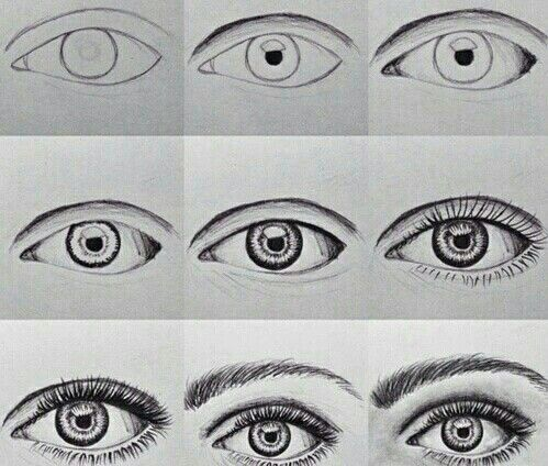 How to draw the perfect eye step by step   Things I want to draw ...