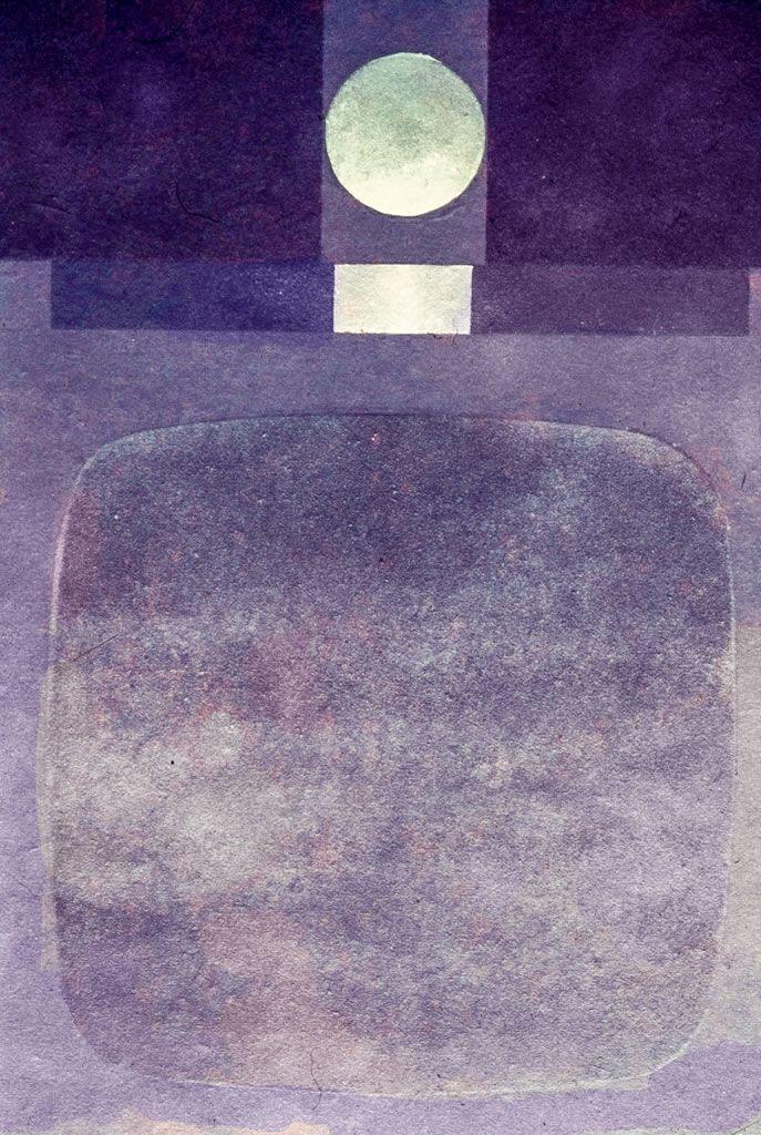 Avatar Moraes Composição Abstrata 5 – guache com técnica pochoir (120x70)