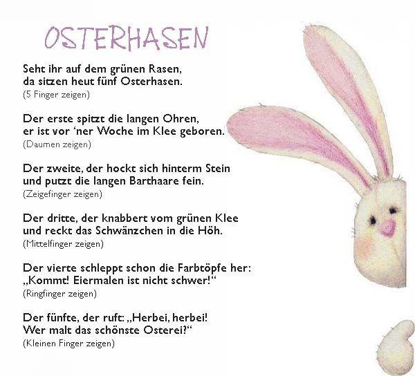 Osterhase Fingerspiel Reim Kindergarten Erzieherin Ostern