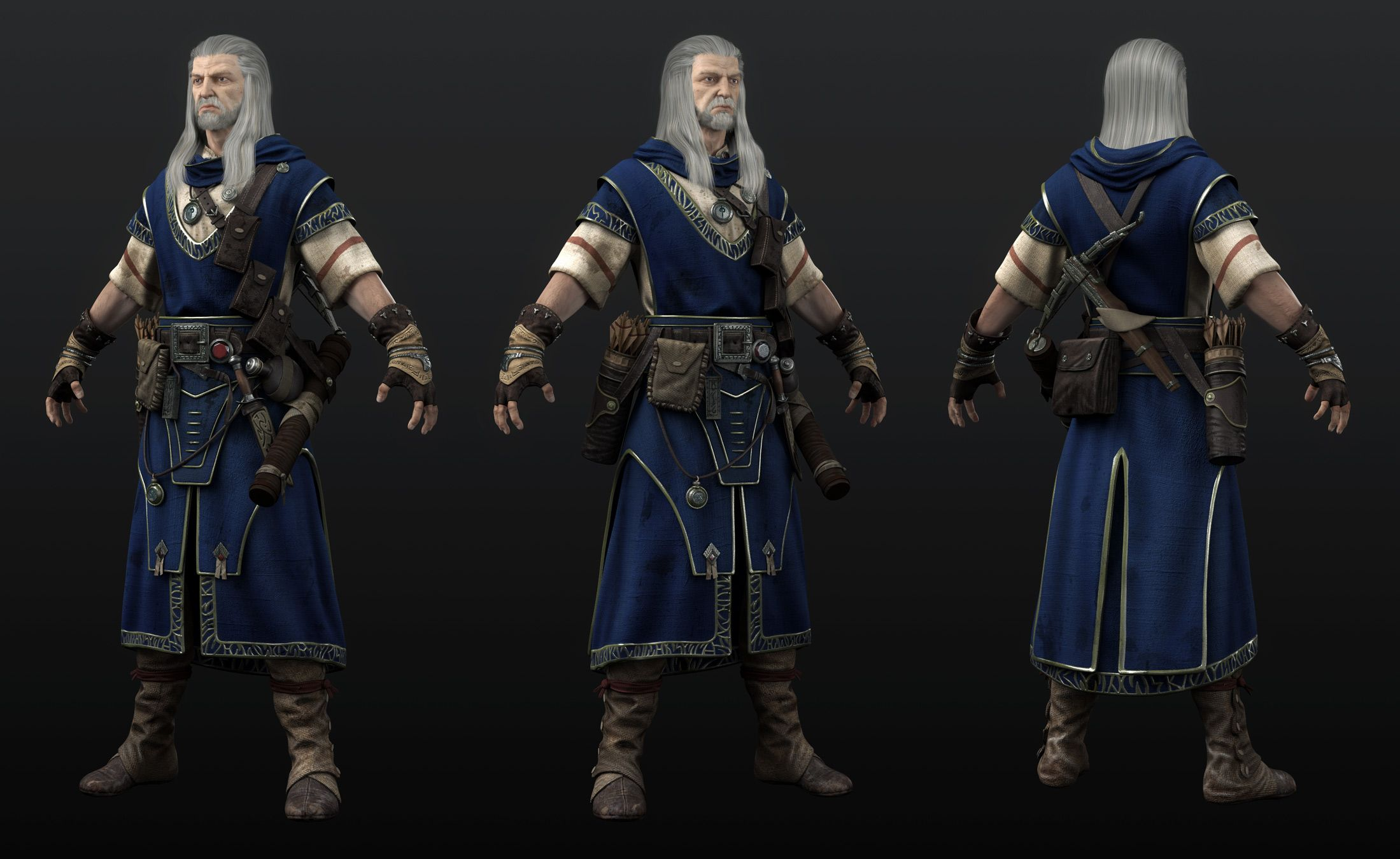 Undefined Fantasy Character Male Fantasy Wizard Character Male