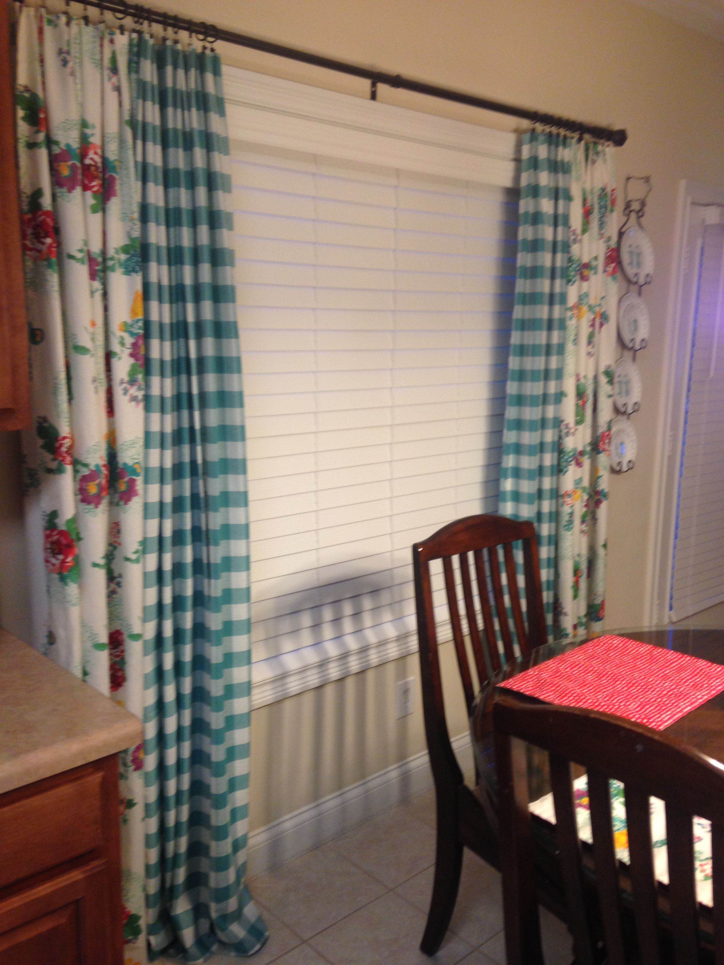 pioneer woman curtains using tablecloths kitchen pinterest
