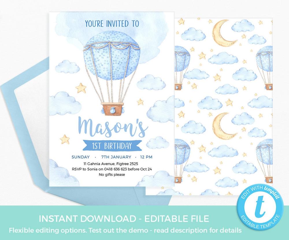 Pin On Hot Air Balloon Party Ideas