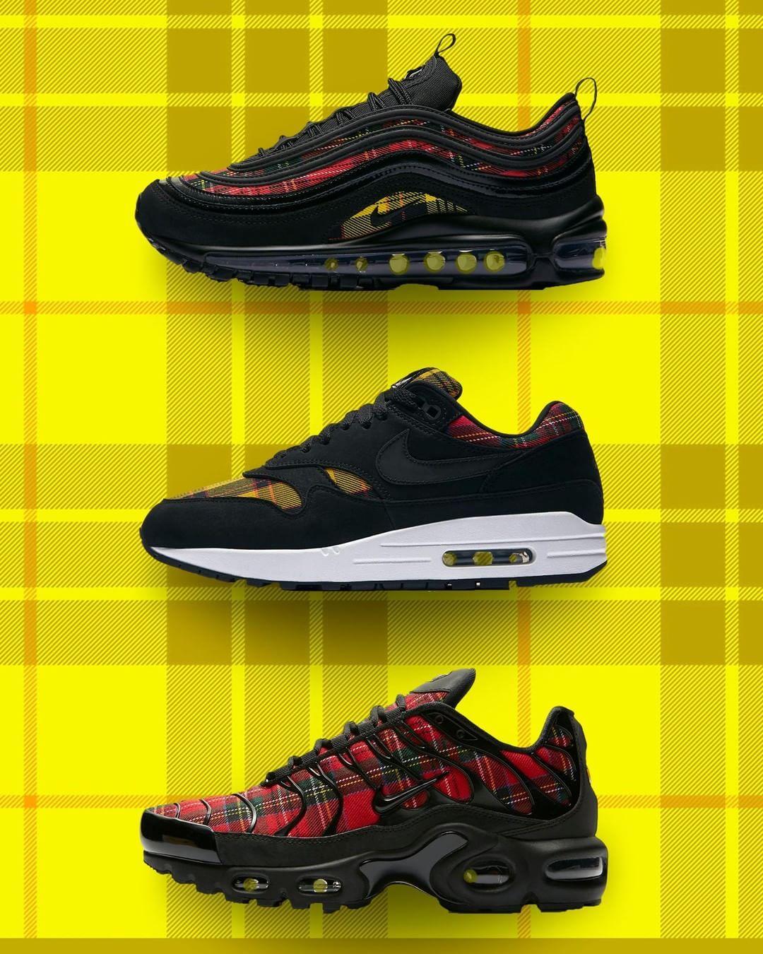 Zapatillas Nike Air Max 97 Tartan Pack Negro Nuevo 2019