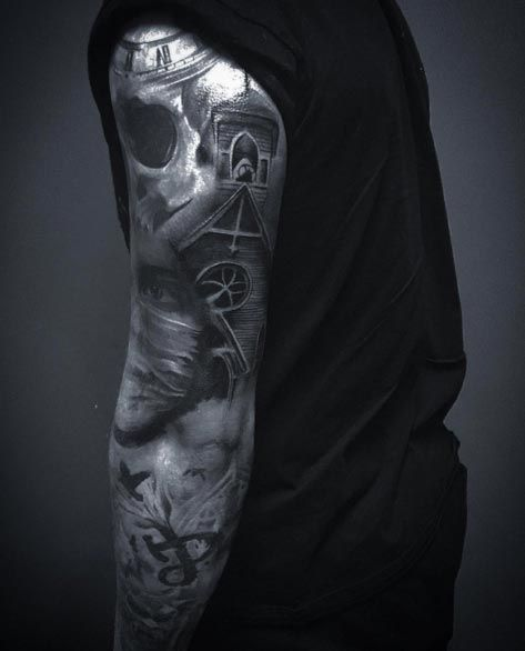 Dark Sleeve Tattoo Designs: 36 Perfect Sleeve Tattoos For Guys With Style
