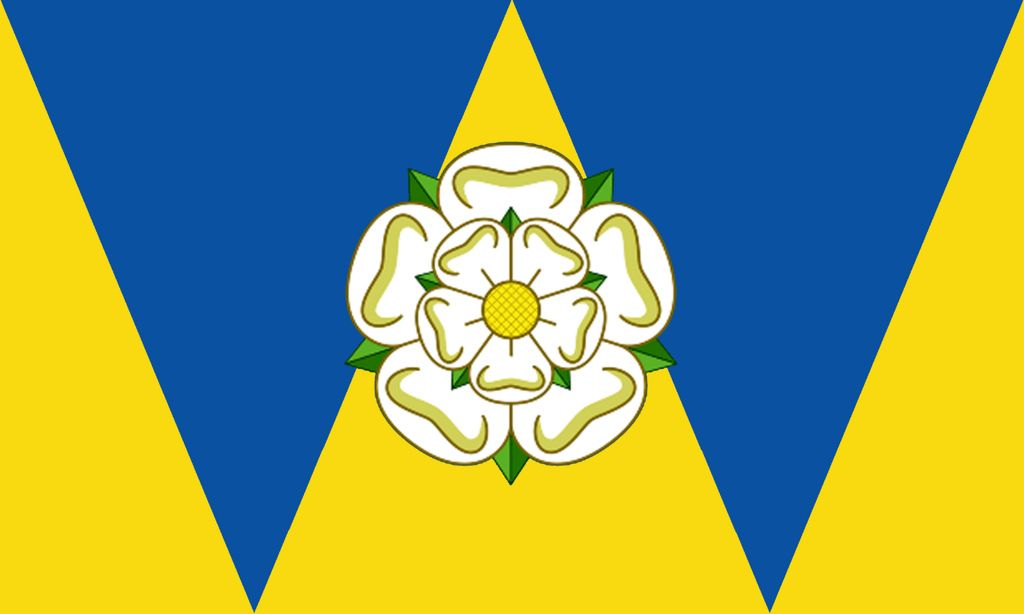 County Flag Of West Yorkshire Yorkshire Flag County Flags Fabric Flags