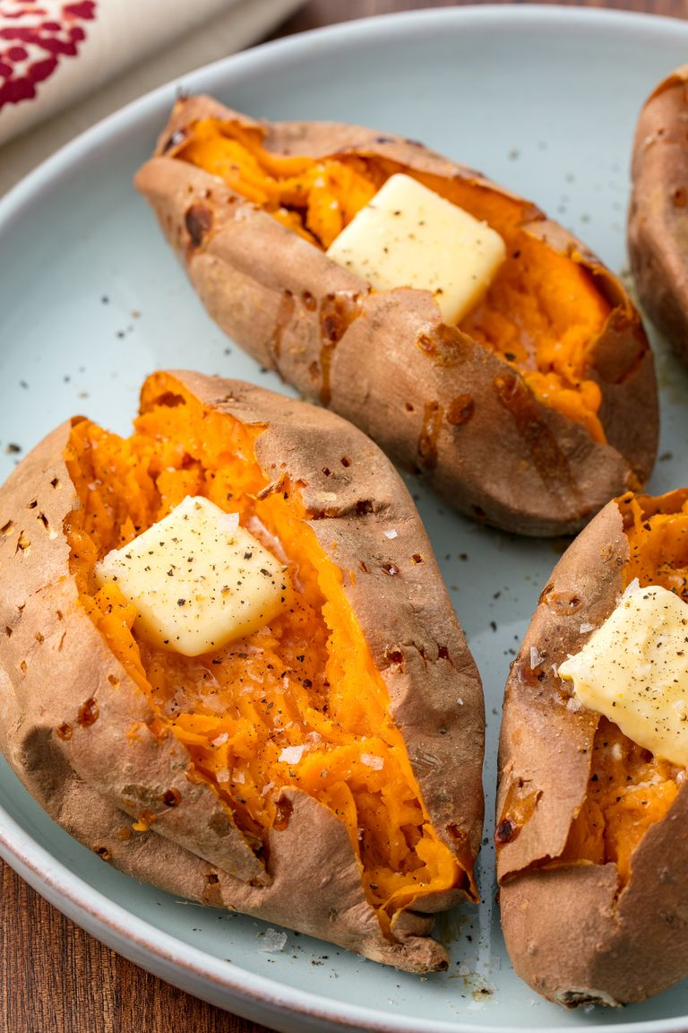 Eat More Super Foods By Trying These Baked Sweet Potatoes Recipe Sweet Potato Recipes Baked Cooking Sweet Potatoes Perfect Baked Sweet Potato