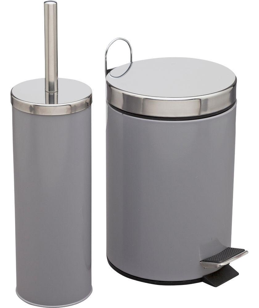 Buy Colourmatch Bathroom Bin And Toilet Brush Set Smoke Grey At Argos Co Uk Your Online Shop For Ba Bathroom Accessories Sets Bathroom Accessories Homebase