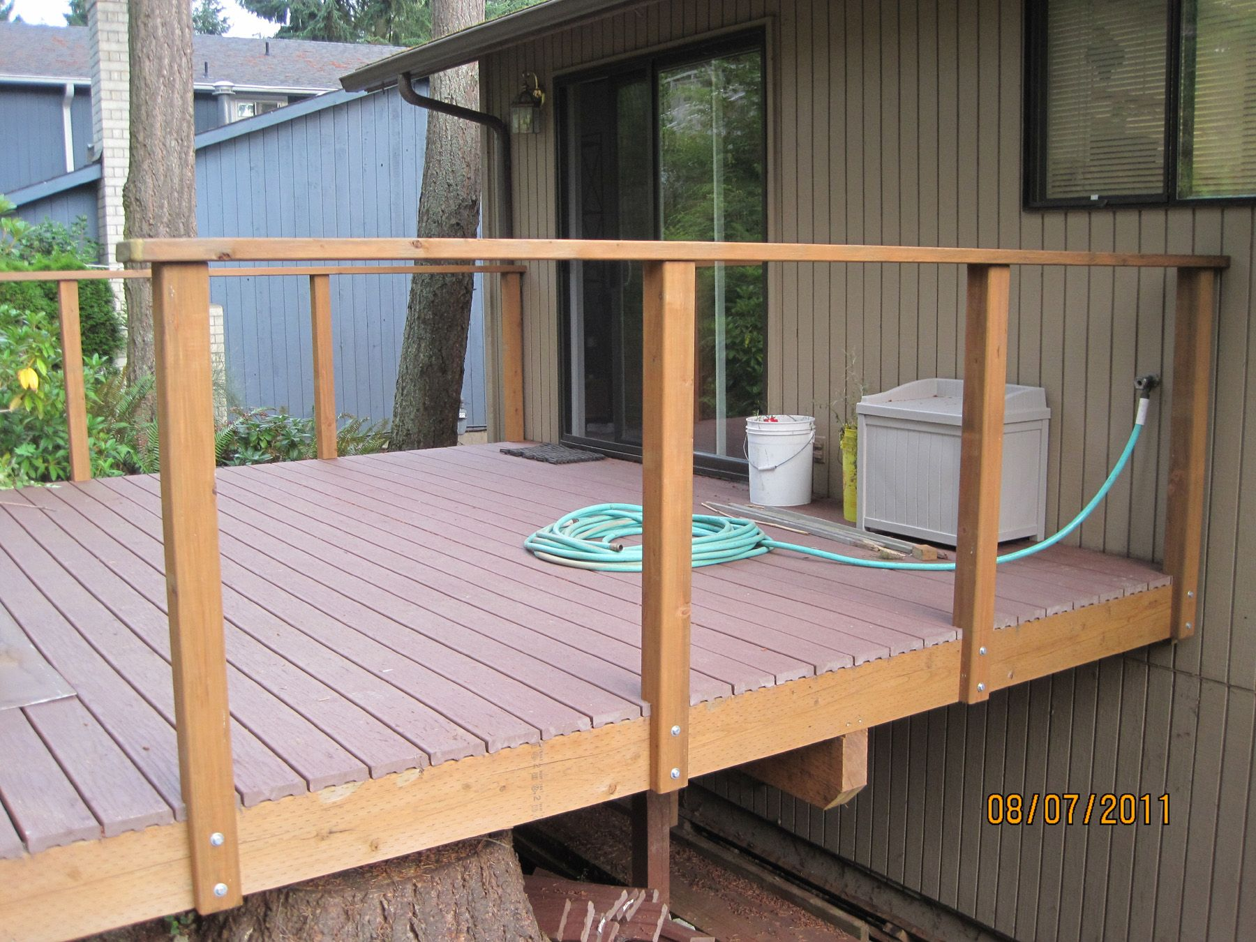 Best The Deck Railings Are Up Deck Railing Design Deck 400 x 300