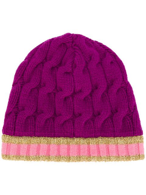 8729ed731 Shop Gucci cable knit beanie hat. | Women's hats | Knit beanie, Knit ...