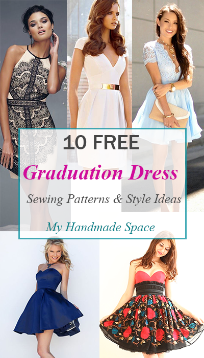 10 FREE Graduation Dress Sewing Patterns | Pinterest | Dress sewing ...