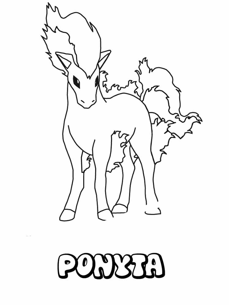 Pokemon Ponyta Coloring Page Pokemon Coloring Pokemon Coloring