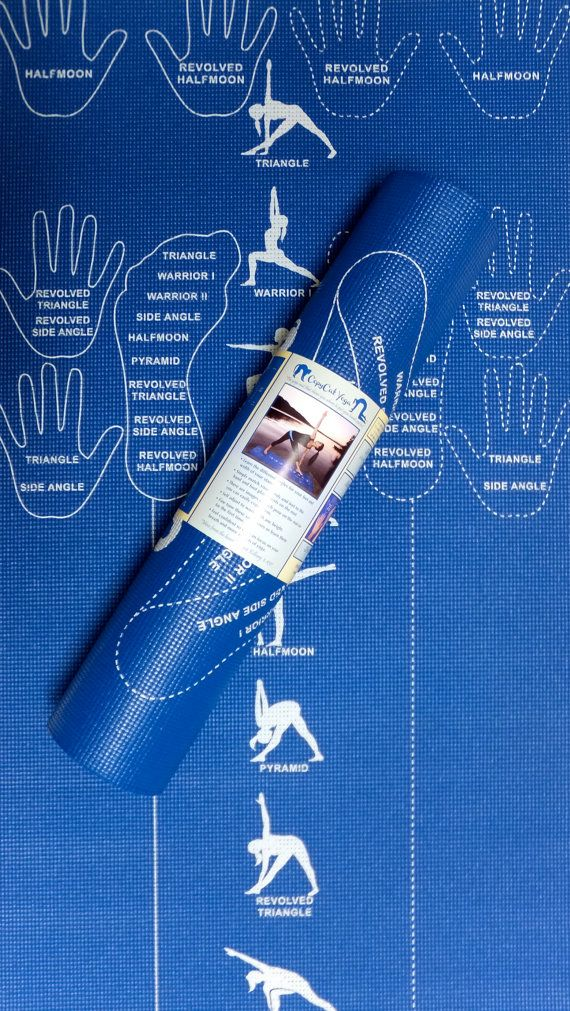 Instructional Yoga Mat Alignment Yoga Mat With Hand And Foot