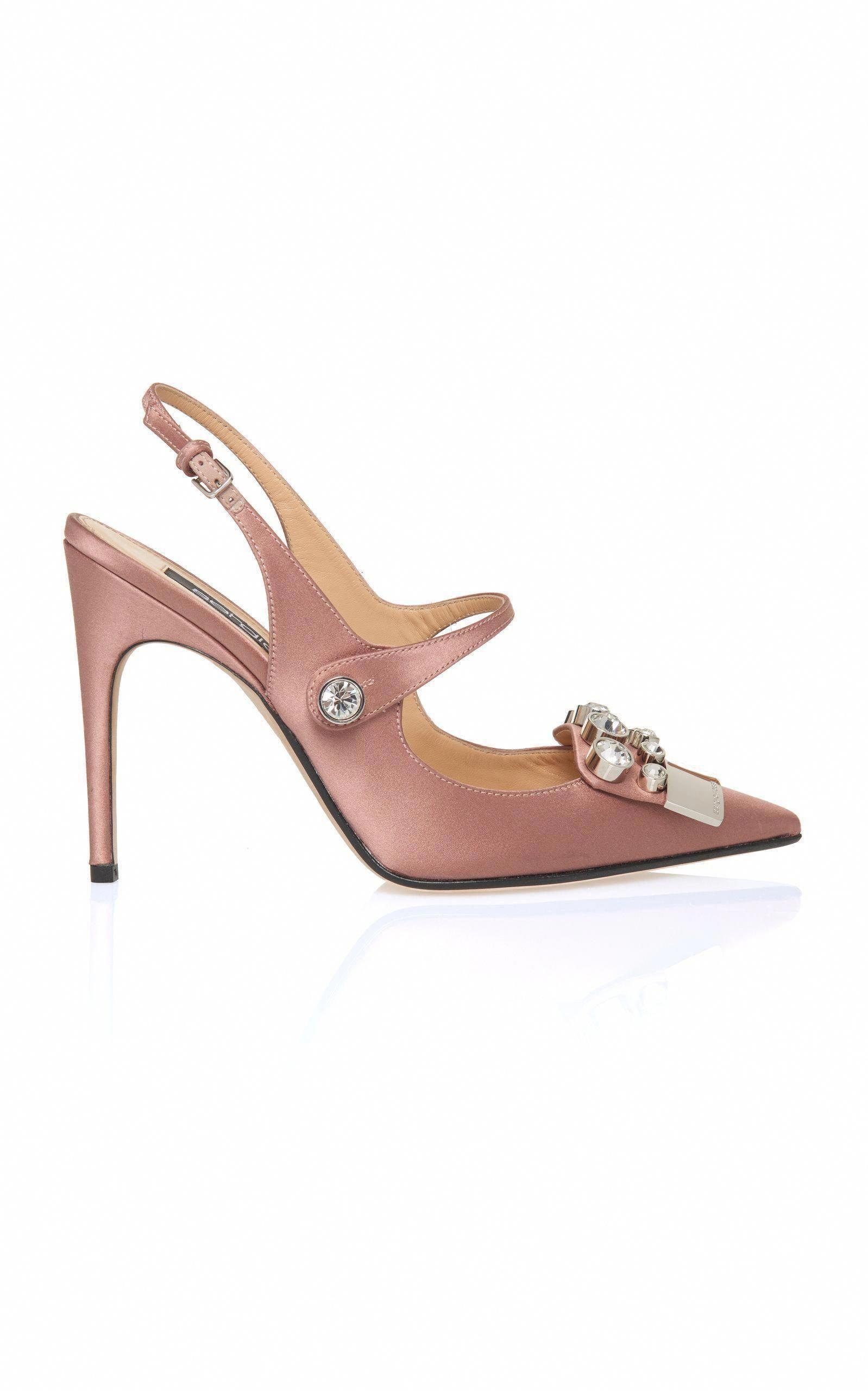 c312e603311 SERGIO ROSSI SR1 SATIN PUMP.  sergiorossi  shoes