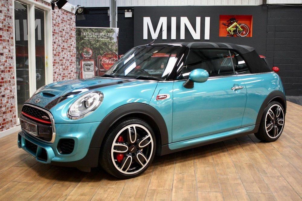 Ebay Mini Convertible John Cooper Works Turquoise Auto Petrol 2016