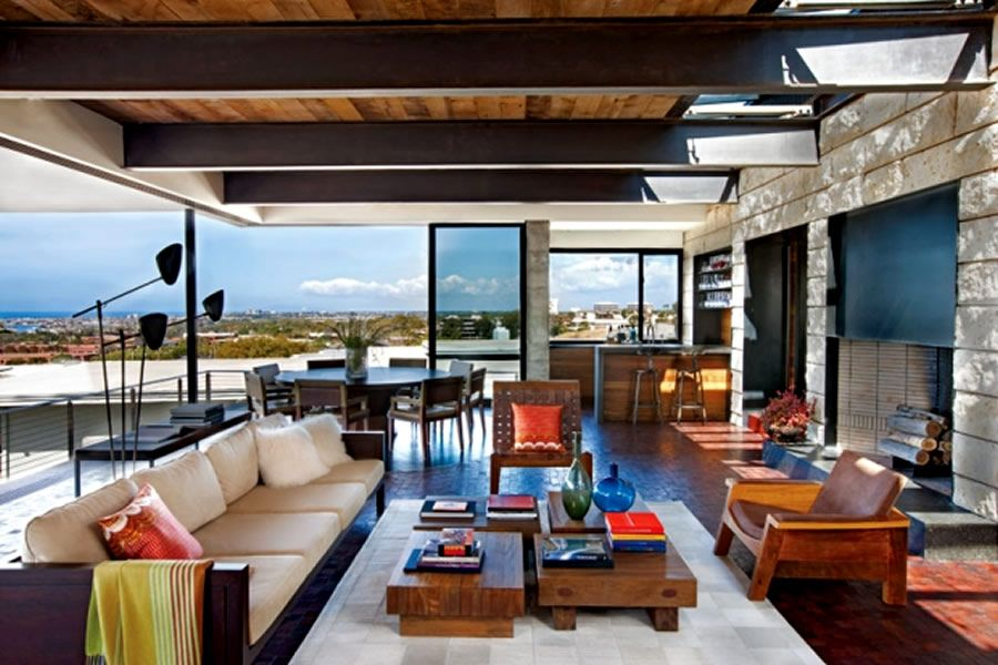 Modern and warm home interior design of the brown residence by craig schultz california