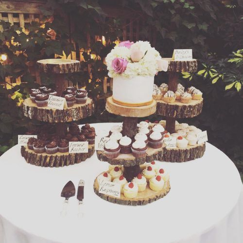 Abby 3 Tier Wooden Cupcake Stand Wedding Wooden