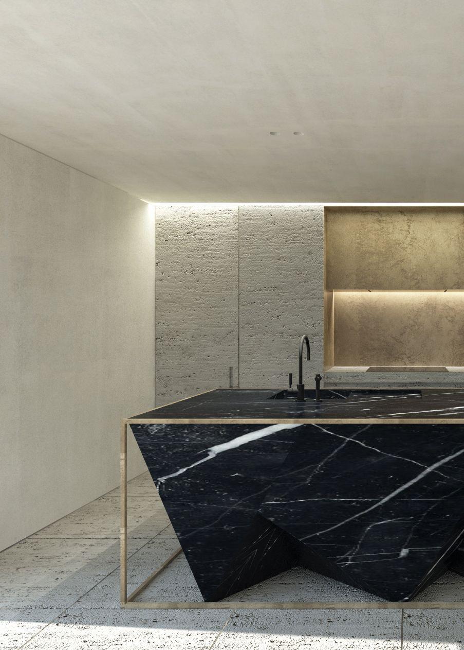 Impresionante encimera de mármol negro | Cocinas | Pinterest ...