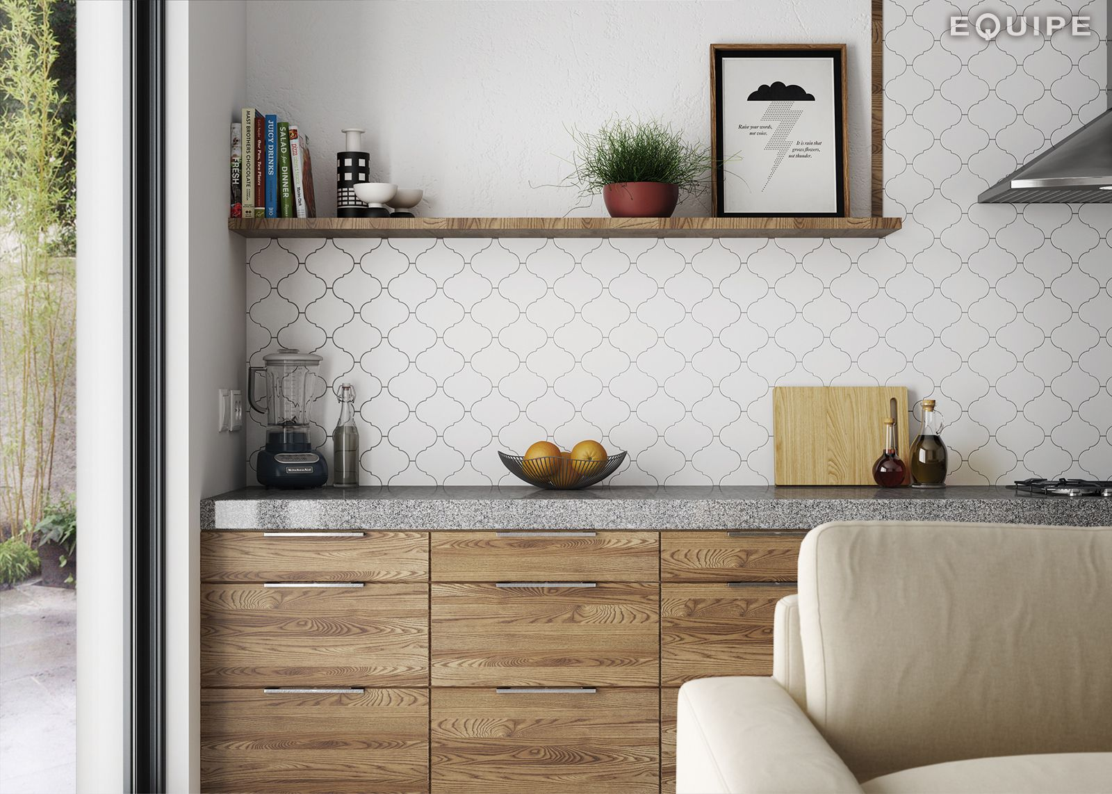Scale Alhambra White Matt 12x12 | kitchens | Pinterest