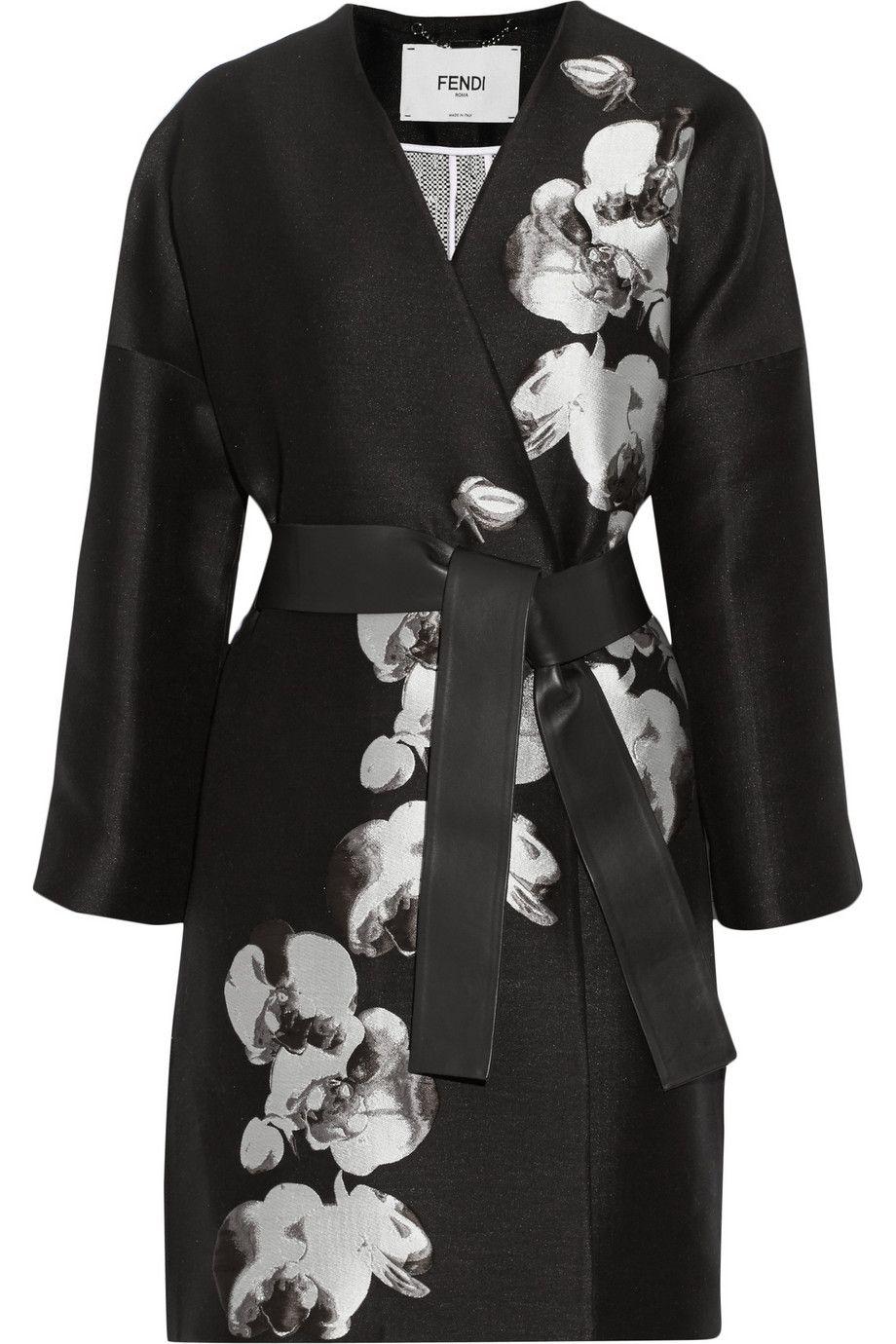 Fendi|Orchid jacquard and tweed coat|NET-A-PORTER.COM
