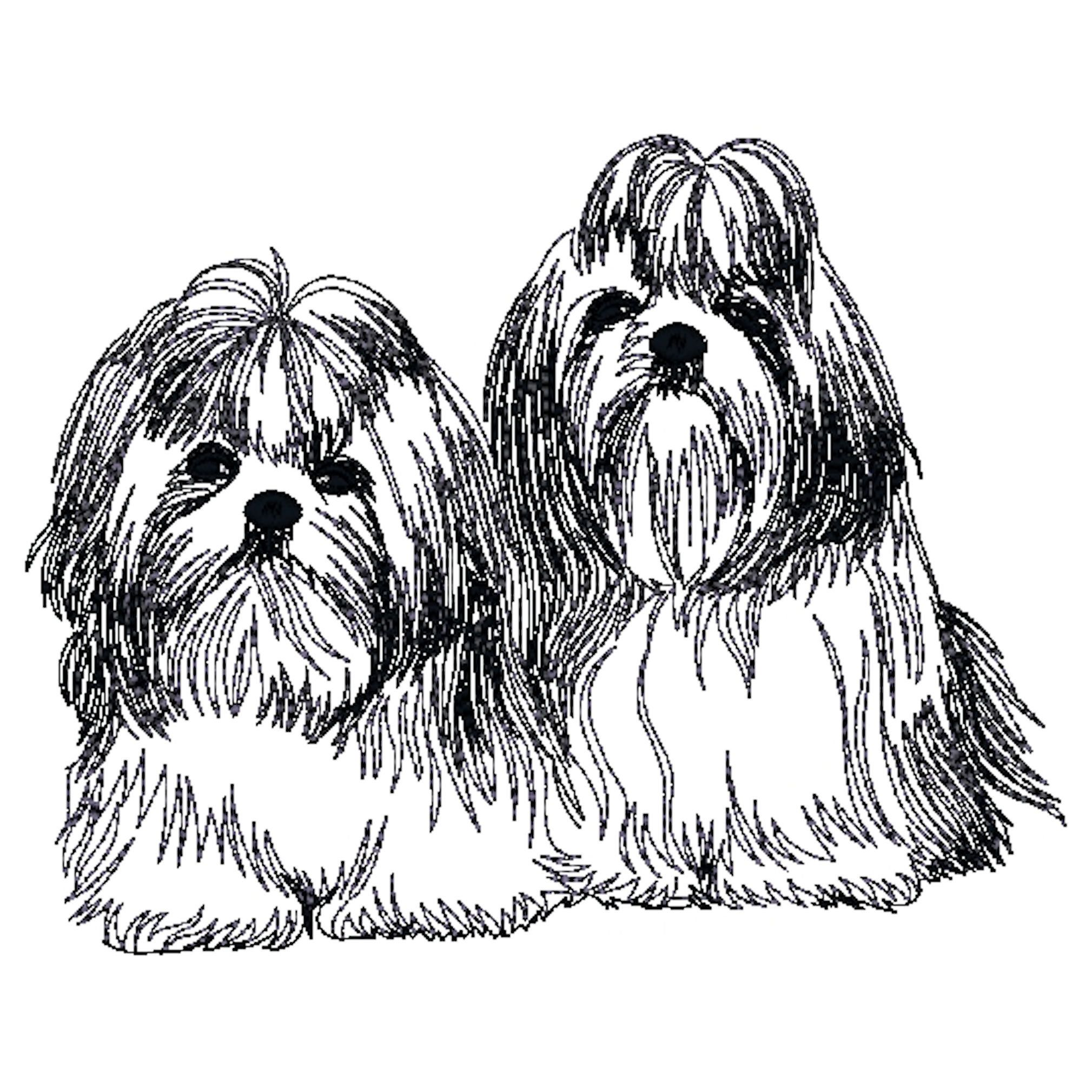 Shih Tzu Dog Embroidered Towels Dog Towels Personalised