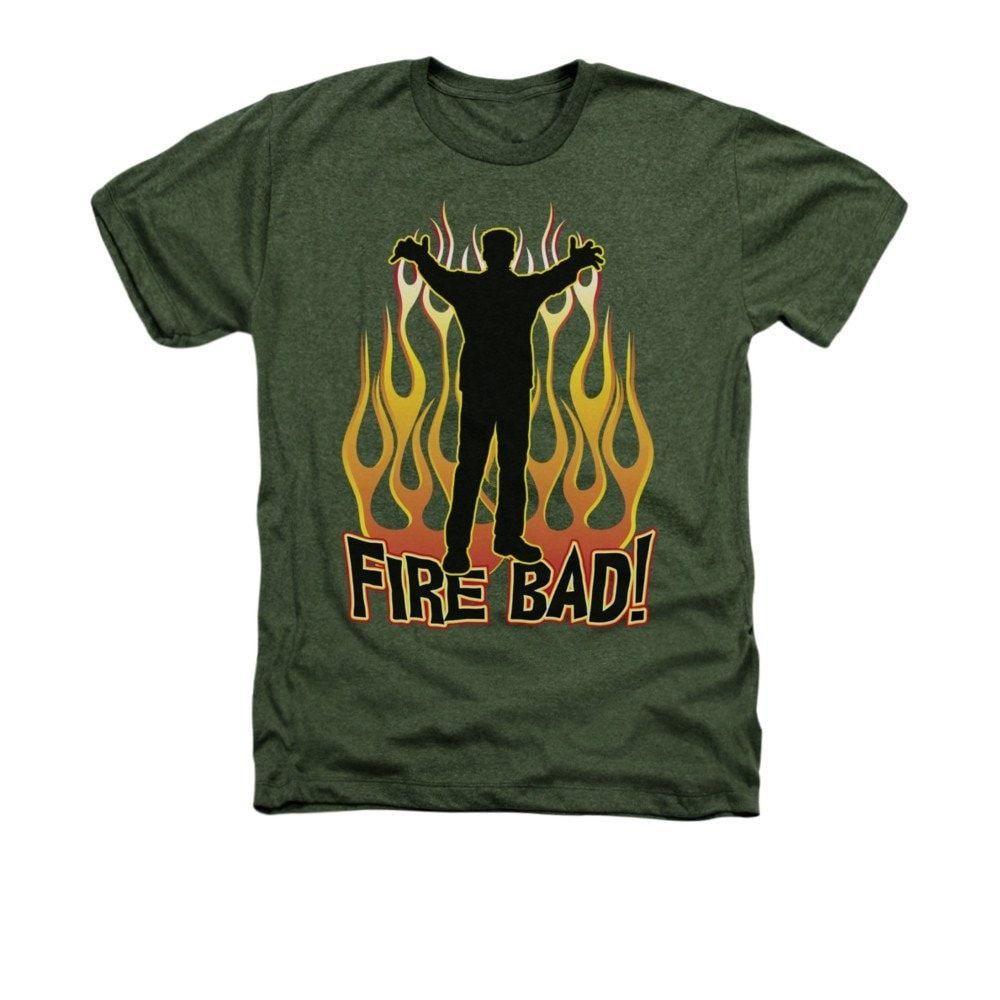 Fire Bad Adult Regular Fit Heather T-Shirt