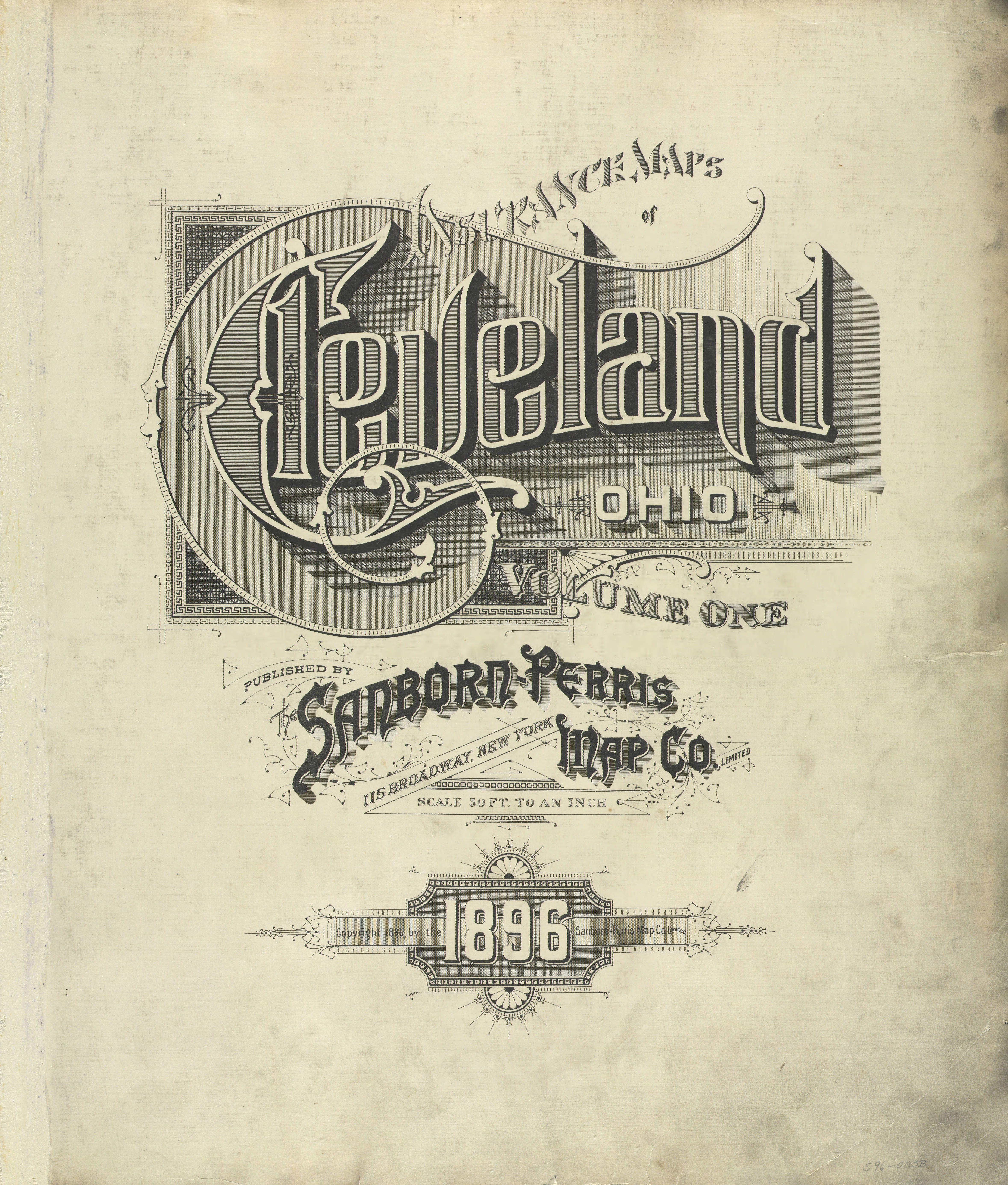 Cleveland Oh Sanborn Perris Map Co Vintage Typography Lettering Design Cool Lettering