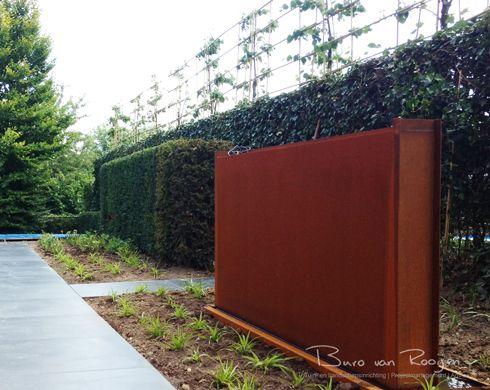 Corten staal water element fontijn verroest staal tuin tuin