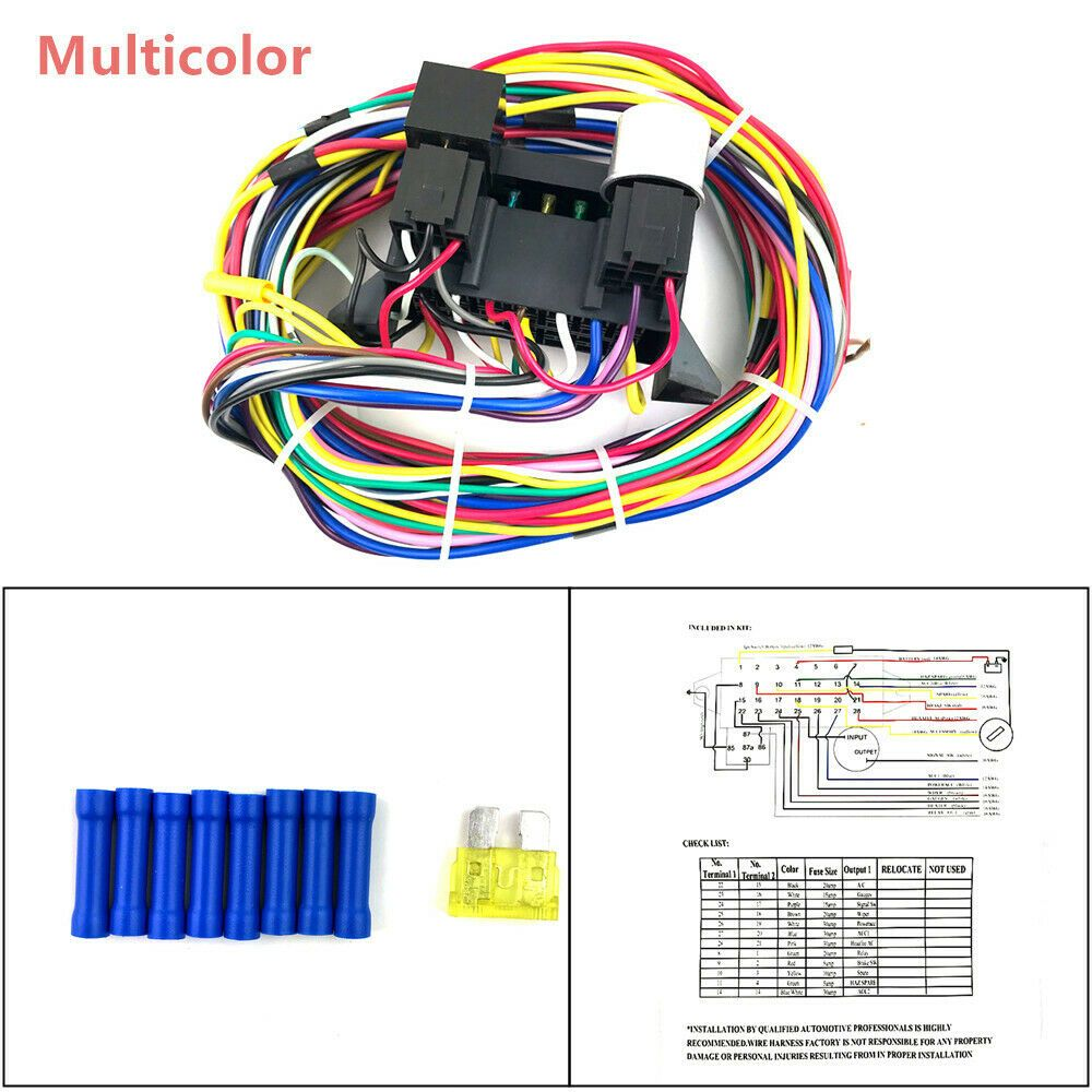 hight resolution of  advertisement ebay 12 circuit basic wire harness plastic fuse box street hot rat rod