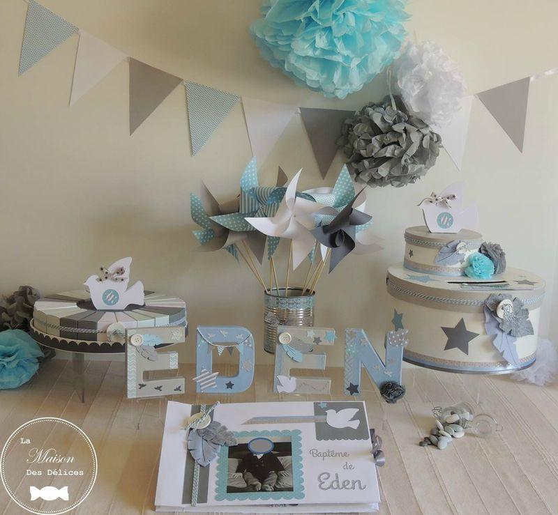 bapteme theme plume colombe etoile blanc bleu pastel gris urne livre d or lettres prenom. Black Bedroom Furniture Sets. Home Design Ideas