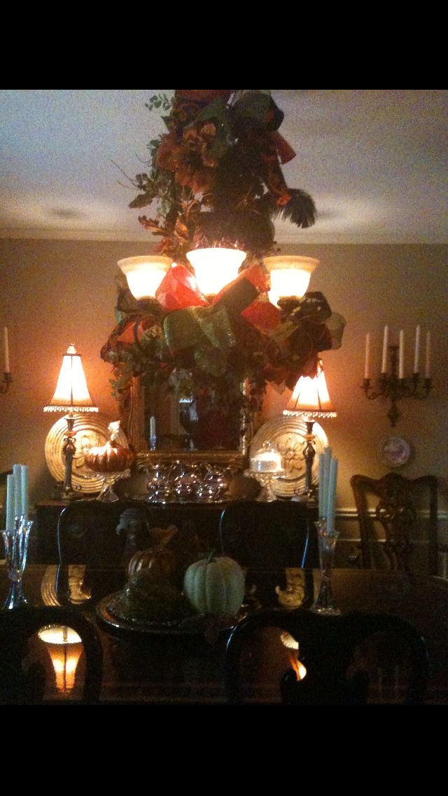 My Fall chandelier. :)