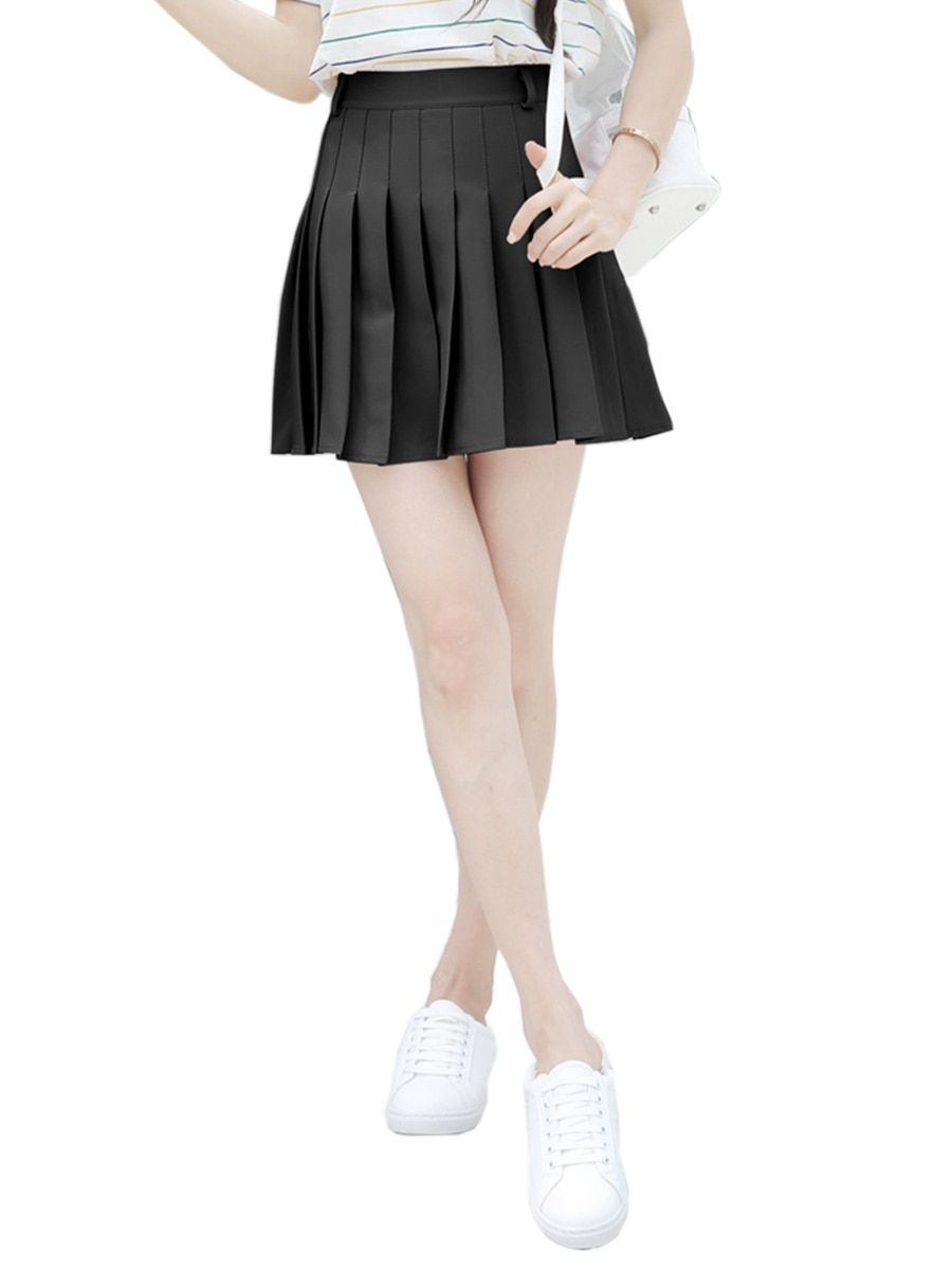 f463120811b Buy Women s Skirt Solid Color High Waist Pleated Skirt   Women s Skirts -  at Jolly Chic