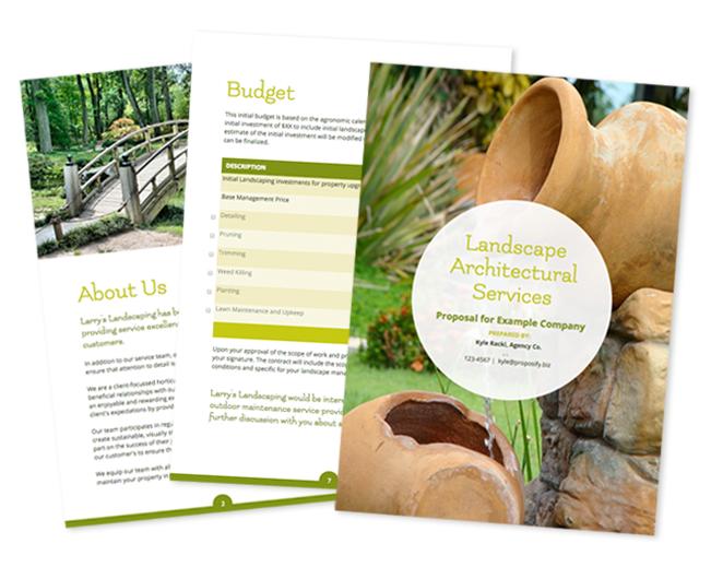 Landscape Architecture Proposal Template Garden Landscape Drawing