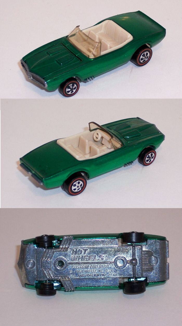 1968 Firebird US Green Hot wheels toys, Vintage hot