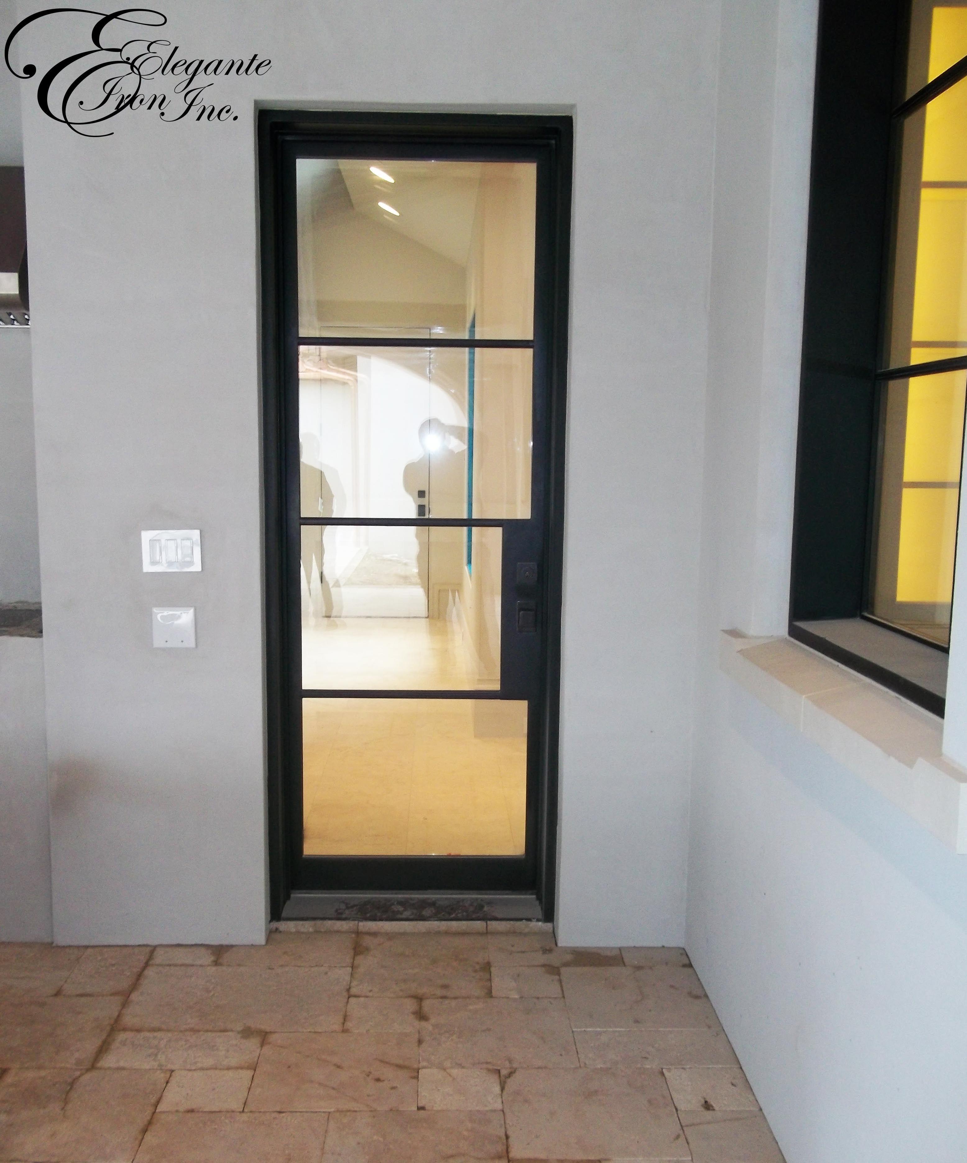 Custom Iron Door And Window Iron Doors Single Doors Front Door