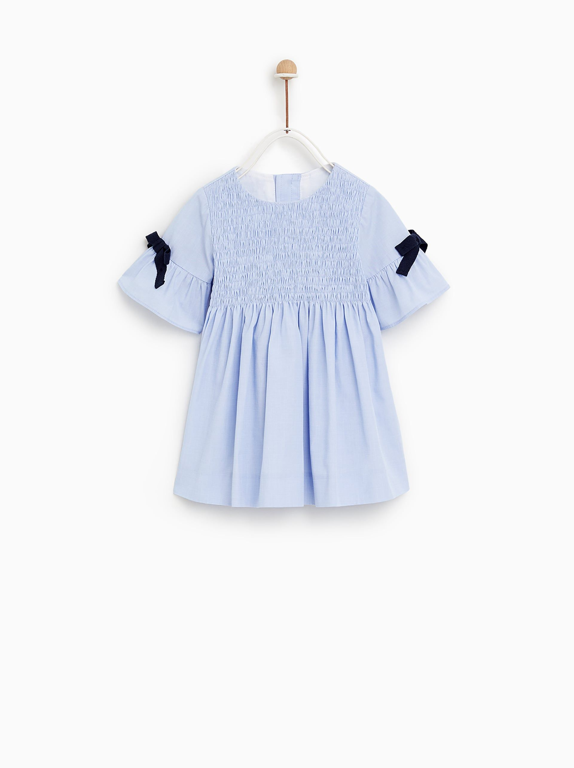 b6695b421e6 VESTIDO LAZOS | Clothes for Little Girls | Dress with bow, Zara kids ...