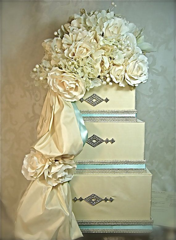 Wedding Card Box Tiffany Blue Reception Gift By WrapsodyandInk
