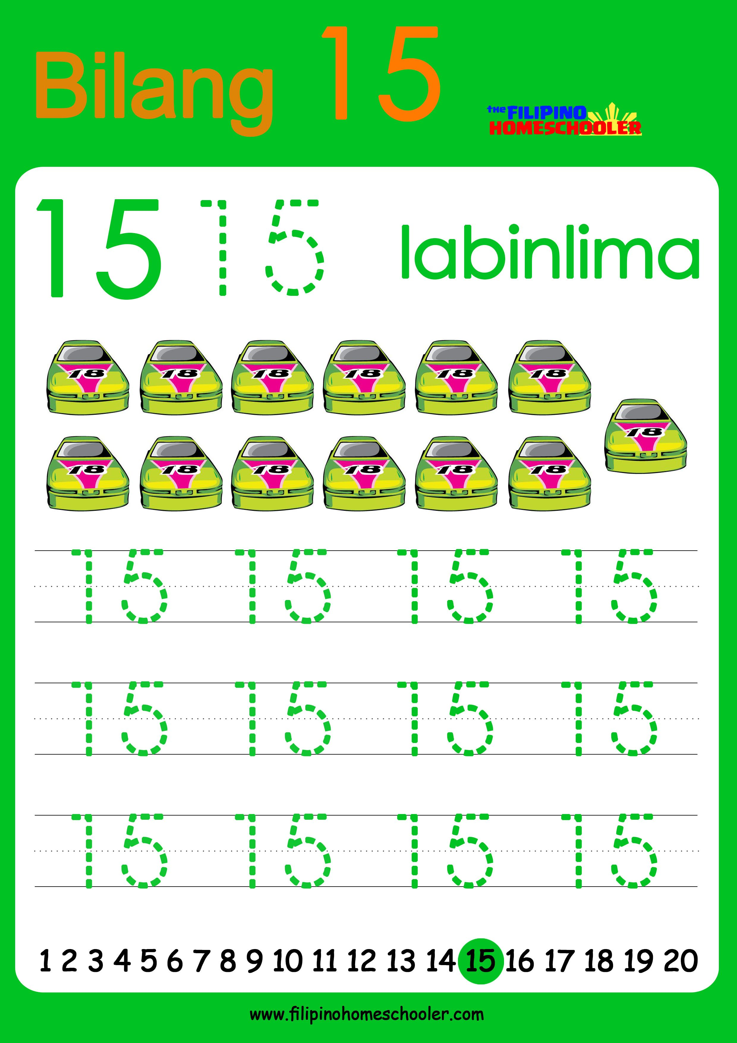 Free Filipino Numbers Worksheets From 11 20 With Images