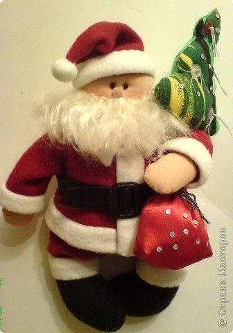 Дед Мороз и Елочка | Дед мороз, Выкройки, Идеи