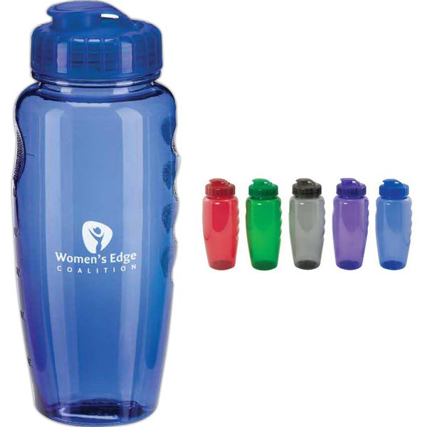 You can have a hit marketing campaign with this sleek bottle! Our 30 oz. poly-clear bottle features a super sipper top and is poly-styrene and poly-carbonate free. Product is great to have during outdoor adventures such as hiking and camping. An ideal promotional product for sports teams and gyms. Customize with an imprint and hand out at your next convention or tradeshow!