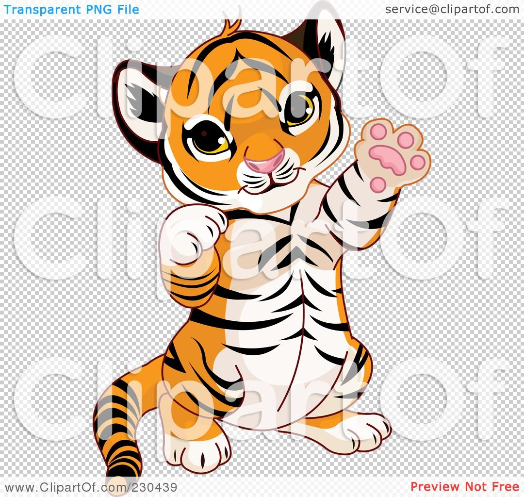 Royalty Free Rf Clipart Illustration Of A Cute Baby Tiger Playing By Pushkin Baby Tiger Cute Babies Illustration