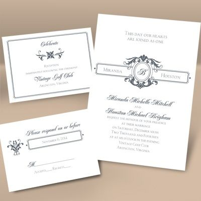 1000 images about Wedding Invitations – Wedding Invitations with Monogram
