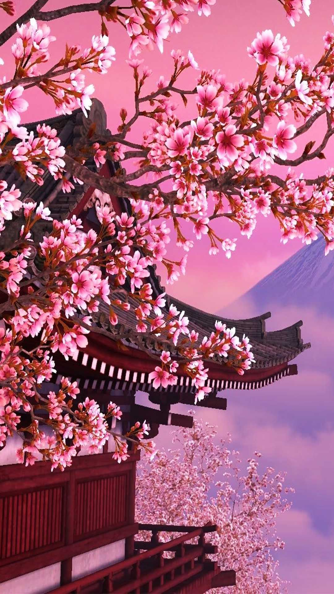 21 Wonderful Japanese Architecture Wallpapers For Android And Iphone Background Free Download On P Japanese Background Cherry Blossom Wallpaper Asian Wallpaper