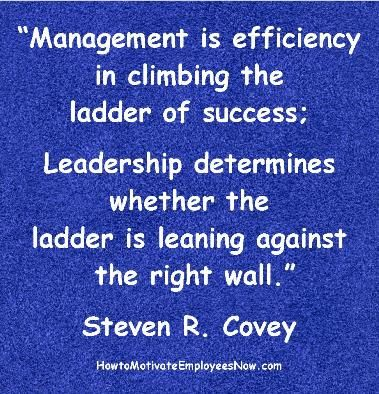 Management Quotation By Steven R Covey Great Analogy Comparing