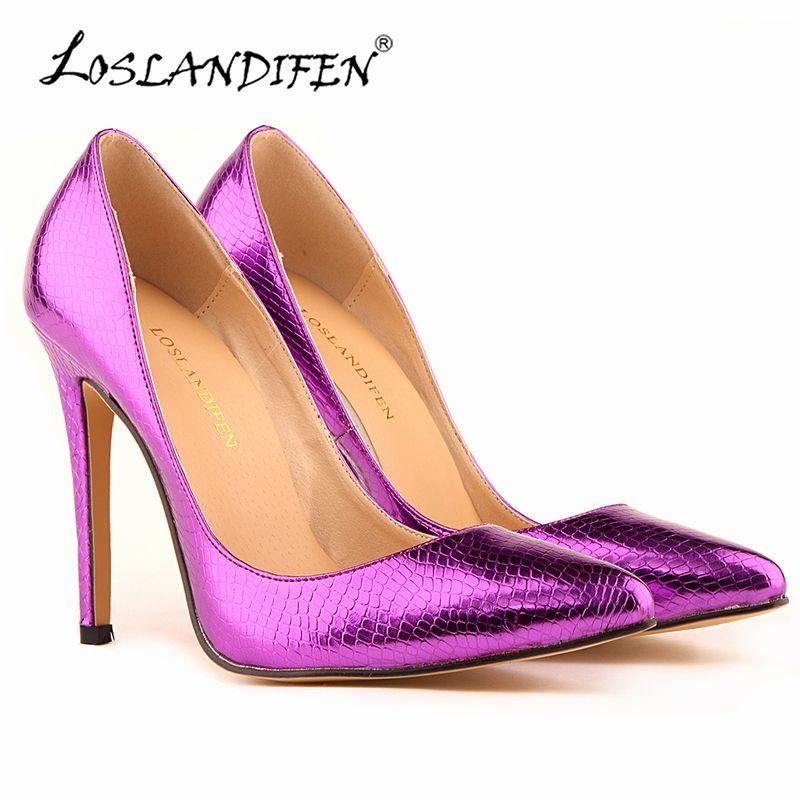 LOSLANDIFEN Small Crocodile Women Pumps Sexy Cusp Shoes High Heels Spring  Brand Wedding Dress Pumps Plus Size 35-42 302-1XEY Price  51.50   FREE  Shipping   ... 71cab0ac6287